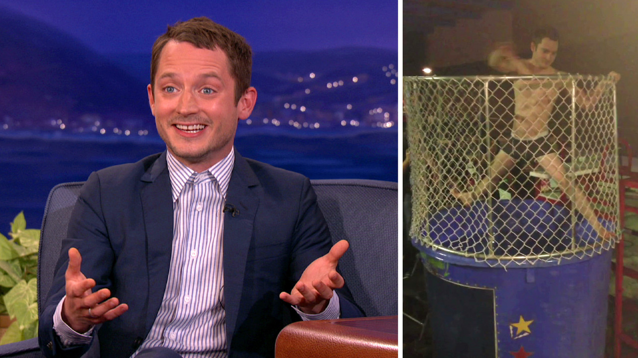 Elijah Wood Stripped Down For The Dunk Tank Team Coco