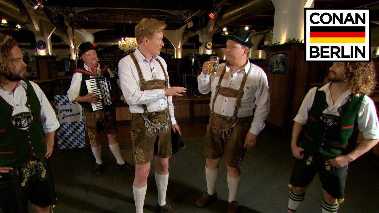 Andy Richter Nude conan & andy richter learn a traditional german dance